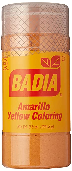 Amazon.com : Badia Yellow Coloring/Amarillo (economy) 9.5 oz ...
