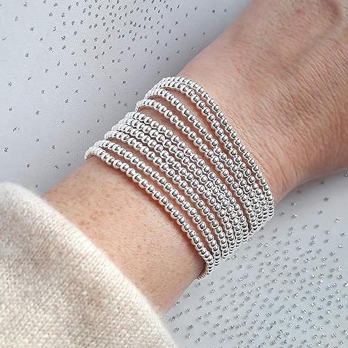 bracelet argent elastique