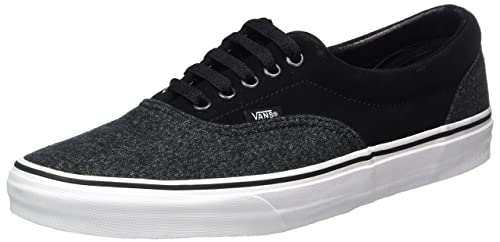 9ac02cd02c Vans Unisex Era (Suede   Suiting) Black Skate Shoe 5 Men US   6.5