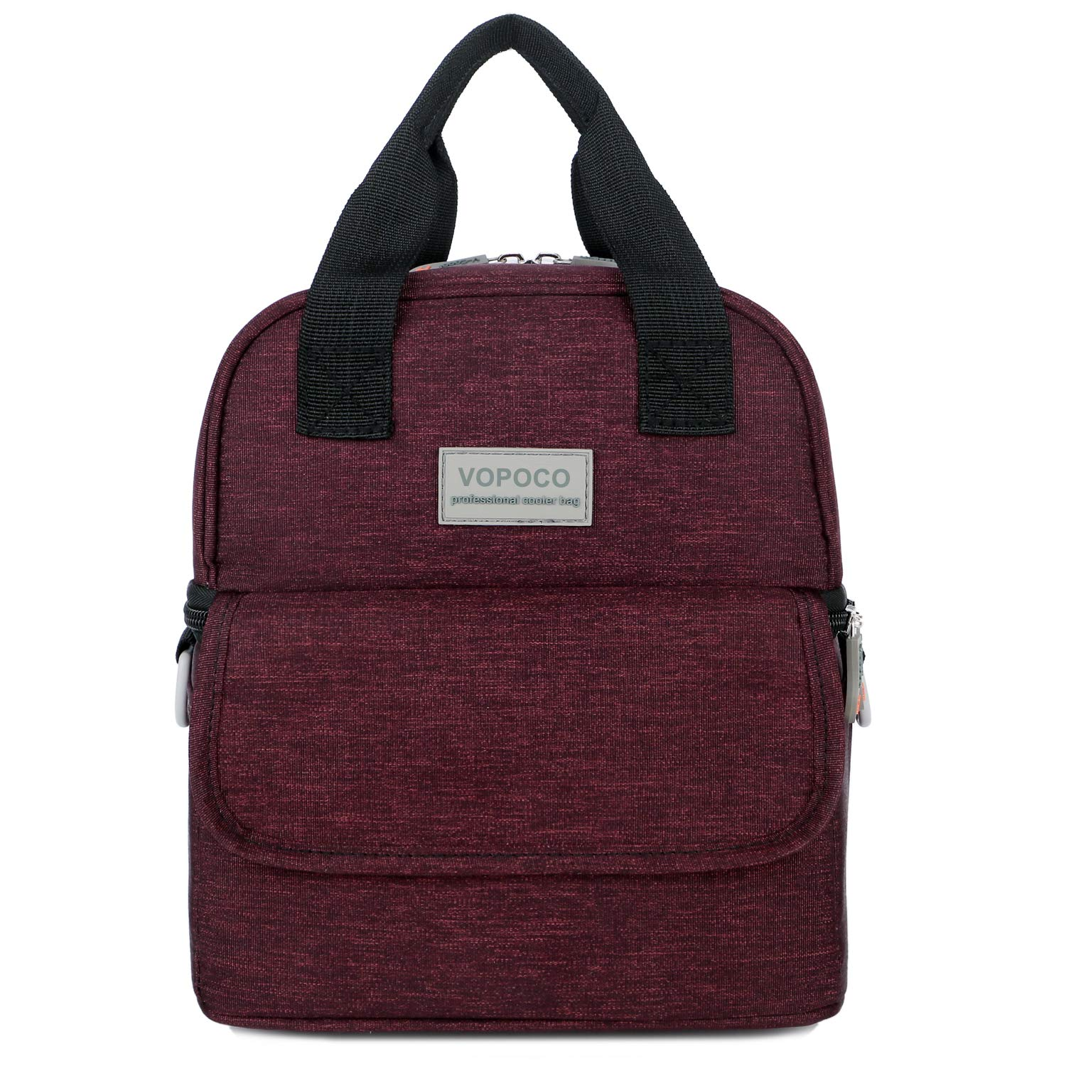 VOPOCO Breast Pump Bag Backpack,Two Layers of Dry Wet Separation Breast Feeding Bag Waterproof with Insulated Pockets to Keep Nutrients for Baby Breast Milk Baby Bottle Cooler Bag for Mom (Wine Red)