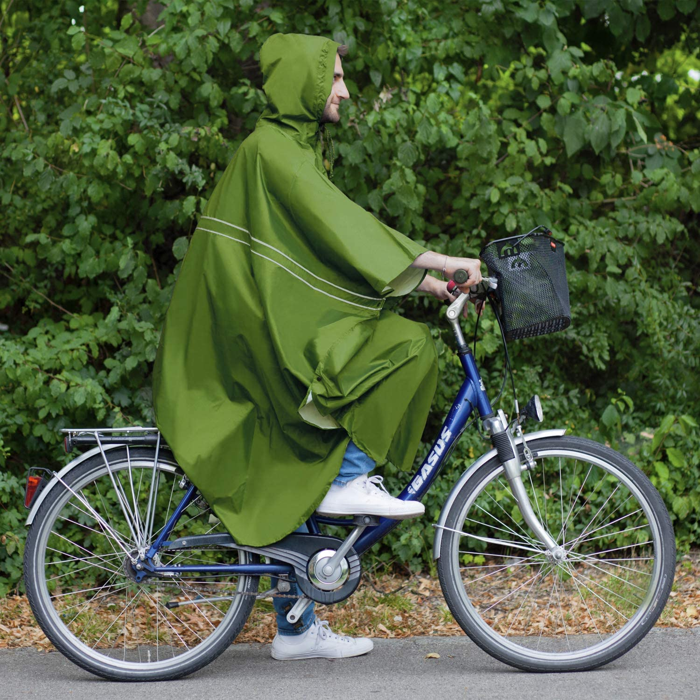 Chubasquero Bicicleta Ropa de Lluvia Chaqueta Impermeable con Capucha saewelo Premium Poncho Impermeable Hombre /& Mujer