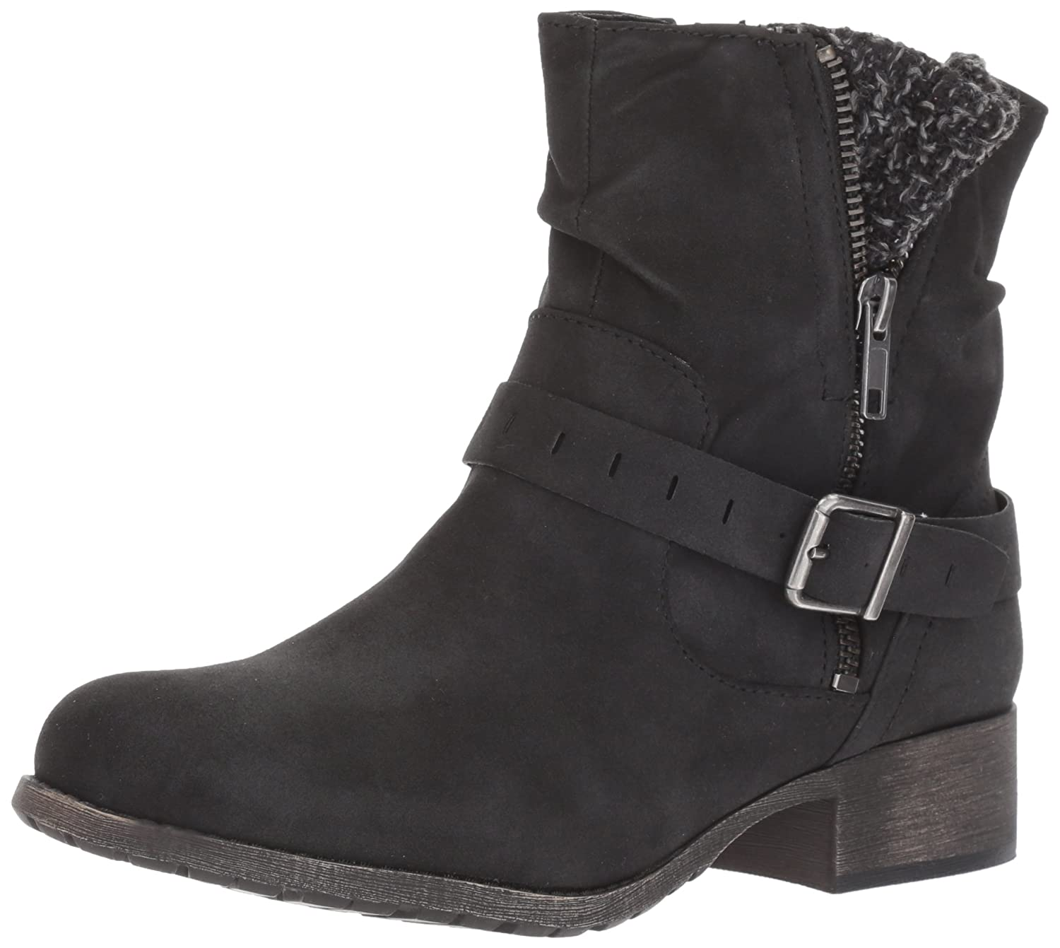 Jellypop Women's Cate Engineer Boot B06WVDX3DJ 8 B(M) US|Black Distress Small