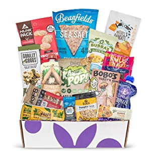 Vegan Gluten Free Dairy Free Healthy Snacks: Variety of Premium Vegan GF Snacks For A Vegan Gift Basket, Vegan Care Package, Or Gluten And Dairy Free Snacks Gift Baskets.