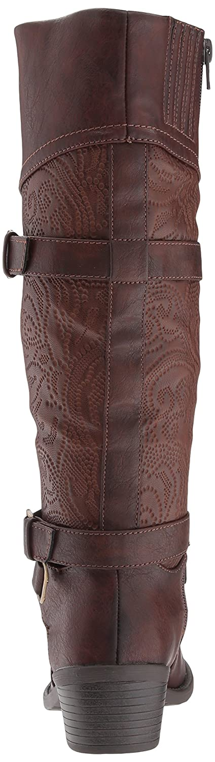 Easy Street B0728PHR44 Women's Kelsa Harness Boot B0728PHR44 Street 7.5 2W US|Brown/Embossed dd6a2a