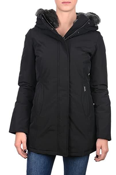hot sales 26771 ce46f Woolrich Giaccone Parka Donna Boulder Nero: Amazon.co.uk ...