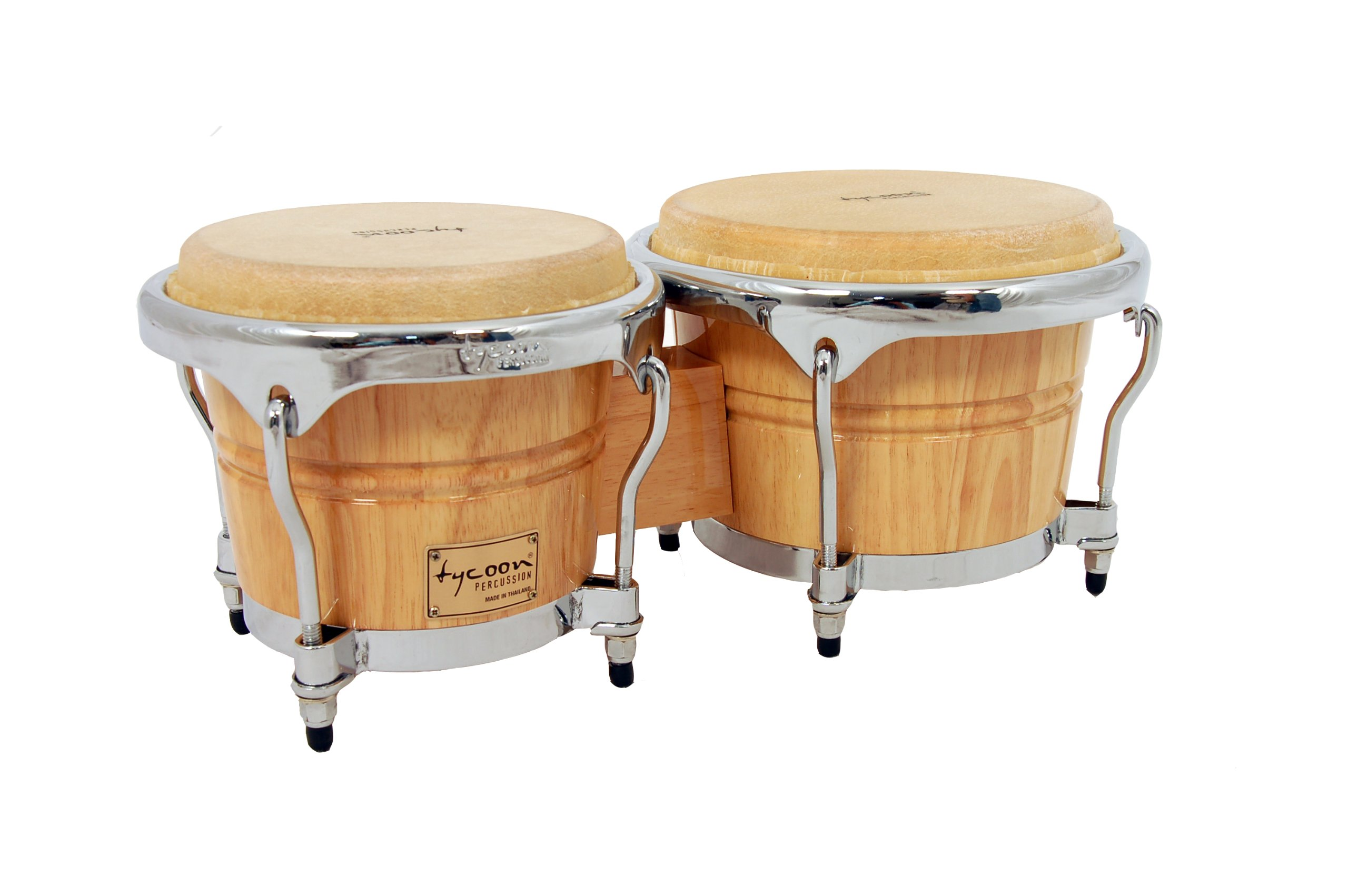 Tycoon Percussion 7 Inch & 8 1/2 Inch Concerto Series Bongos - Natural Finish