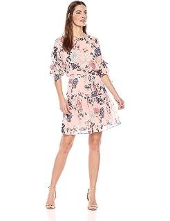 f84b633978a Vince Camuto Womens Sleeveless Botanical Floral Printed Shift Dress ...