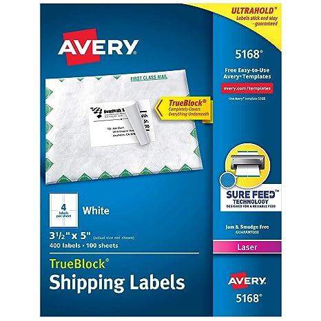 Amazon.com: Avery etiquetas de envío, tecnología TrueBlock ...