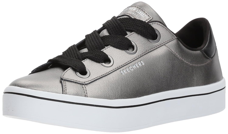 Skechers Women's Hi Lite-Metallic Leather Fashion Sneaker B071W384BT 8.5 M US|Pewter
