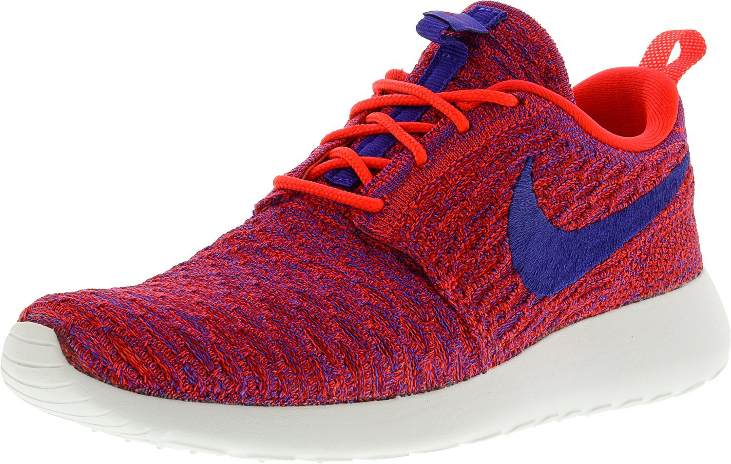 NIKE Womens Roshe One Flyknit Flyknit Colorblock Running Shoes B01MDKNRZ2 7.5 B(M) US|Bright Crimson / Persian Violet-university Red