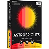 Wausau Astrobrights 24# Writing Paper, 500 count, Warm Assortment, 8.5 x 11 Inch (20272)