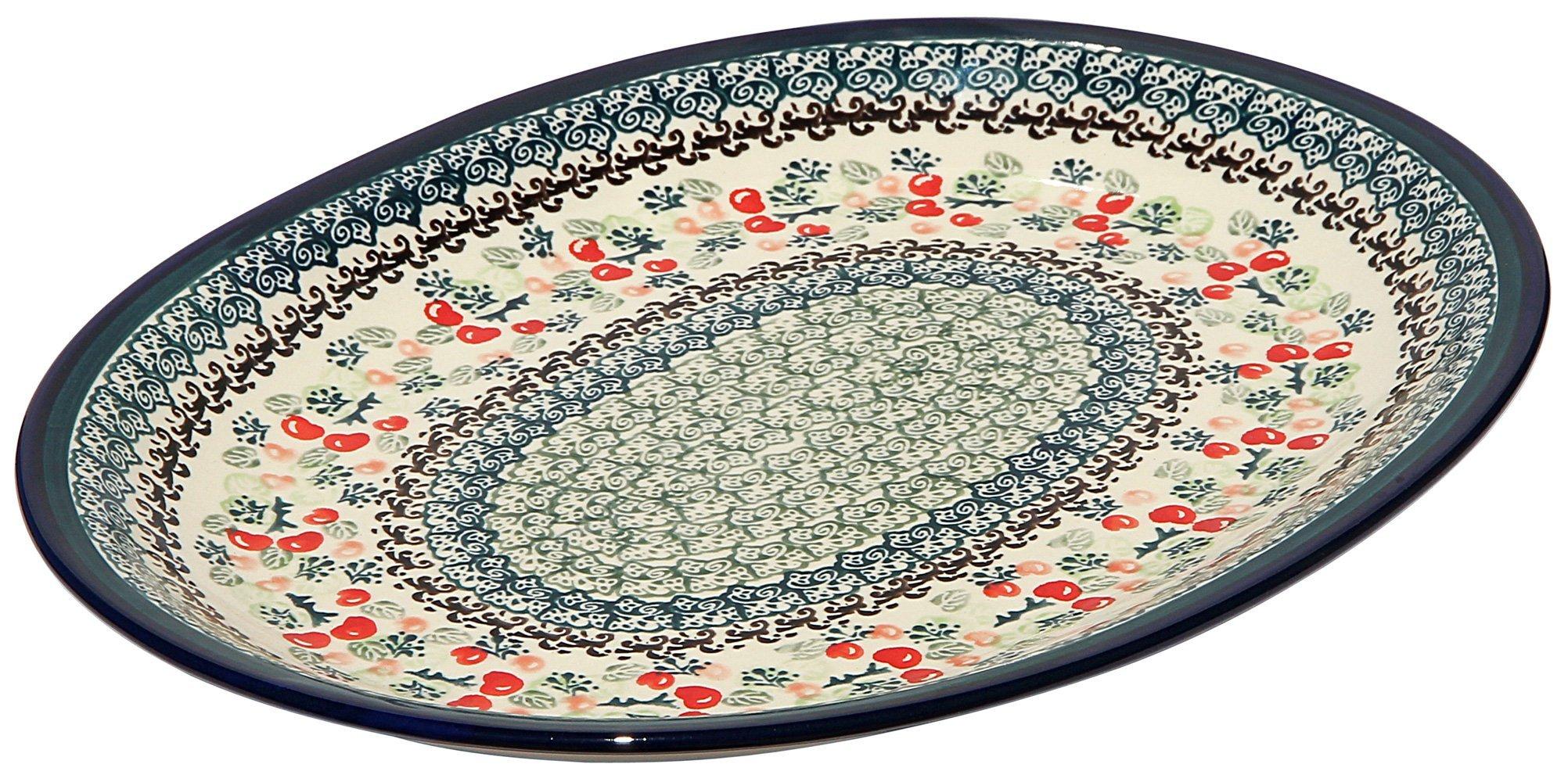 Polish Pottery Large Serving Platter Zaklady Ceramiczne Boleslawiec 1007-du158 Unikat