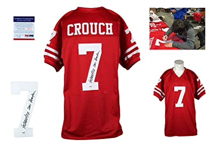 69c7a8f53 Eric Crouch Signed Custom Jersey - PSA DNA - Autographed - Red at ...