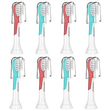 Amazon.com: Paquete de 8 cabezales de repuesto para cepillo ...