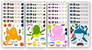 48 Pack Make-A-Sea Sticker Sheets - Stickers Of All Your Kids Favorite Sea Life - Fun Craft Project For Children - Perfect Birthday Party Favors For Mermaid Themed Parties - M & M Products Online