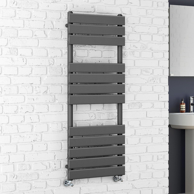anthrazit Handtuchheizk/örper f/ür das Badezimmer soak Flacher Design-Badheizk/örper 120 x 45 cm