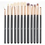 Qivange Eye Makeup Brushes Set, Synthetic Eyeshadow Brushes Eye Makeup Brush Set Cosmetics Brushes Concealer Eyebrow Eyeliner