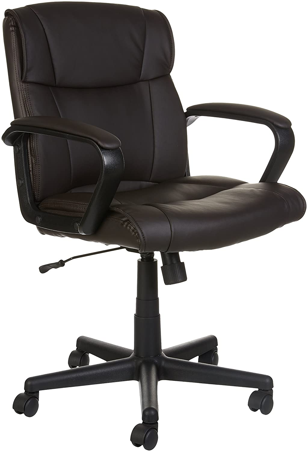 AmazonBasics Mid-Back Office Chair, Brown GF-9390M-1