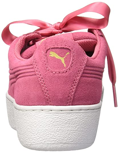 67acb52052a Women s Vikky Platform Ribbon Pink Sneakers - 7 UK India (40.5 EU)(36497902)   Buy Online at Low Prices in India - Amazon.in