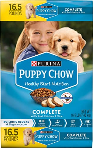Purina Puppy Chow Pack of 3 Complete Puppy Food 16.5 lb. Bag