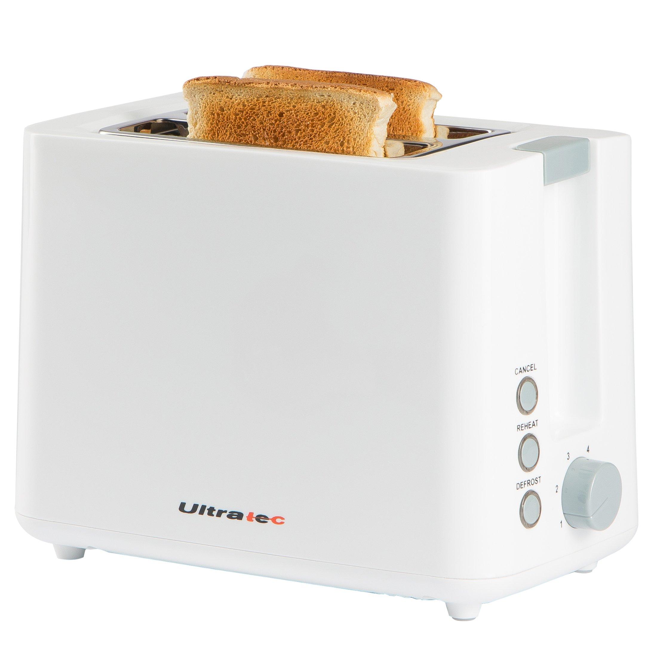 Ultratec Grille-pain à deux compartiments, blanc - 22,5 x 18 x 13,8 cm product image