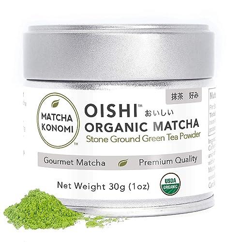 Oishi Matcha - Organic Premium Gourmet First Harvest Japanese Matcha Green Tea Powder - Lattes