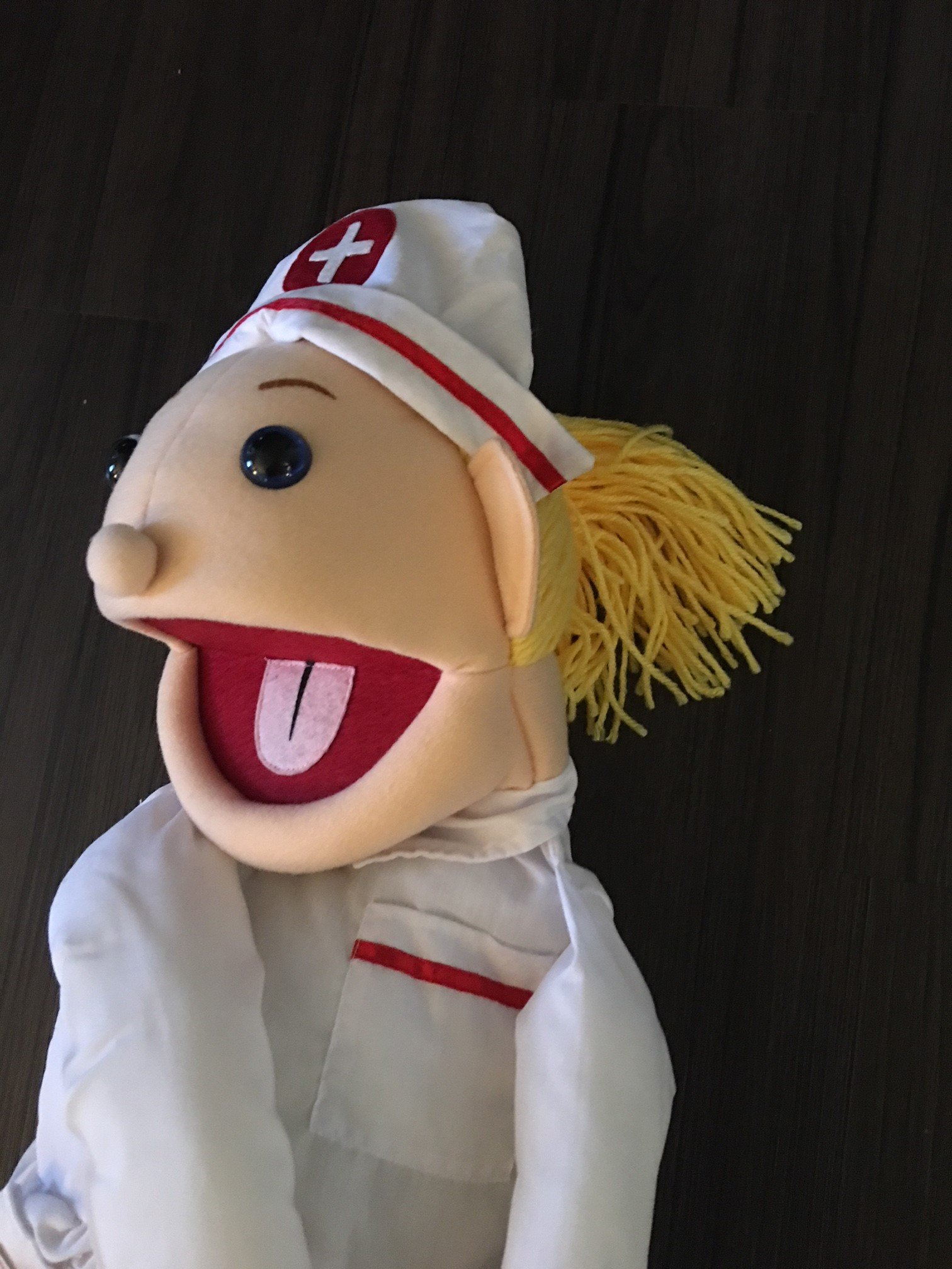 28'' Blonde Nurse Puppet, Full Body, Ventriloquist Style Puppet by Puppets4u (Image #2)