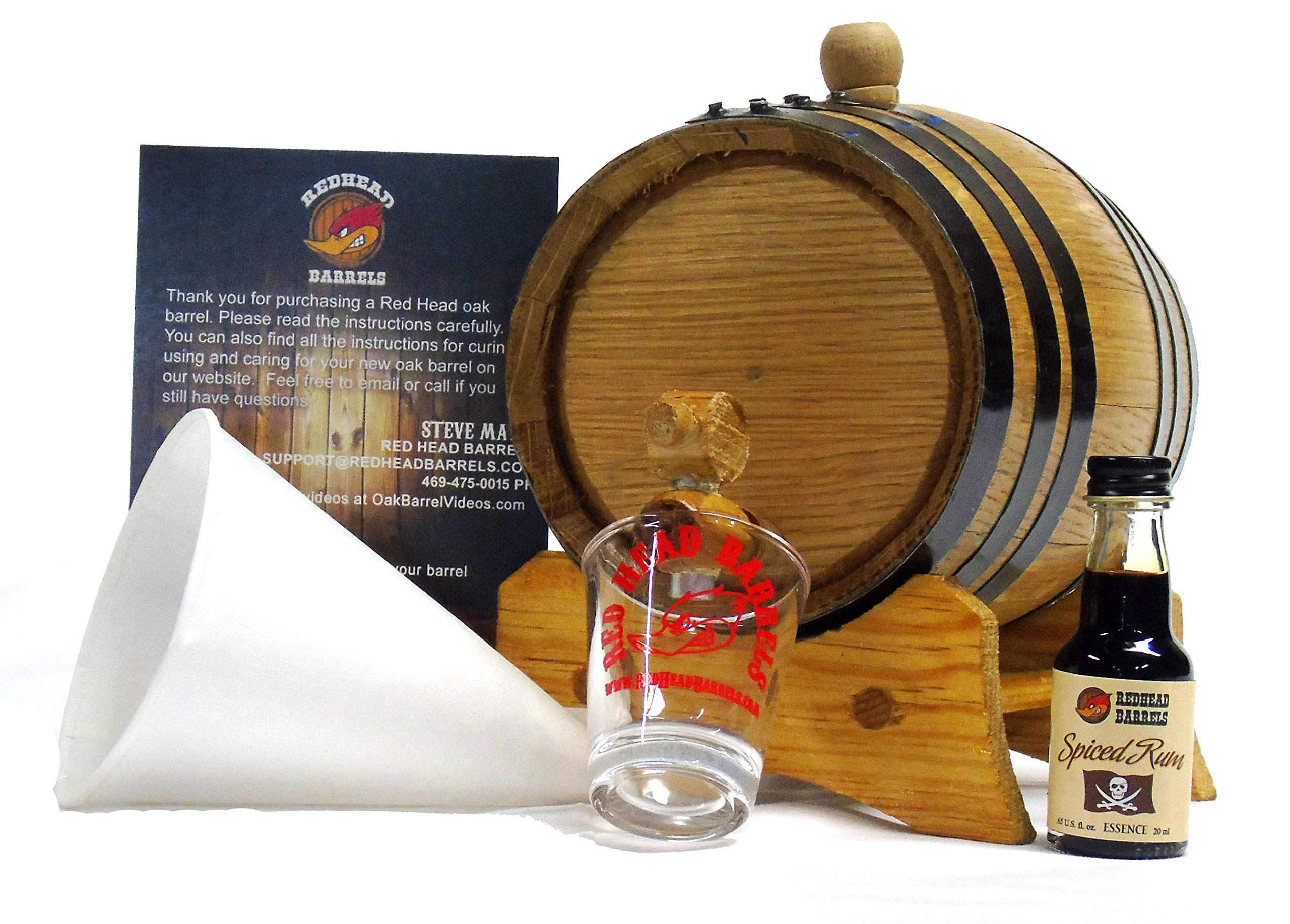 1 Liter Charred Oak Barrel Flavor Kit w/Essence for making your own flavored alcohol (Spiced Rum)