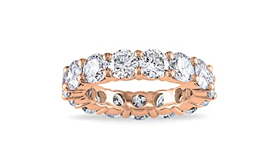 Amazoncom NYC Sterling 4MM Rose Gold Cubic Zirconia Round Luxury