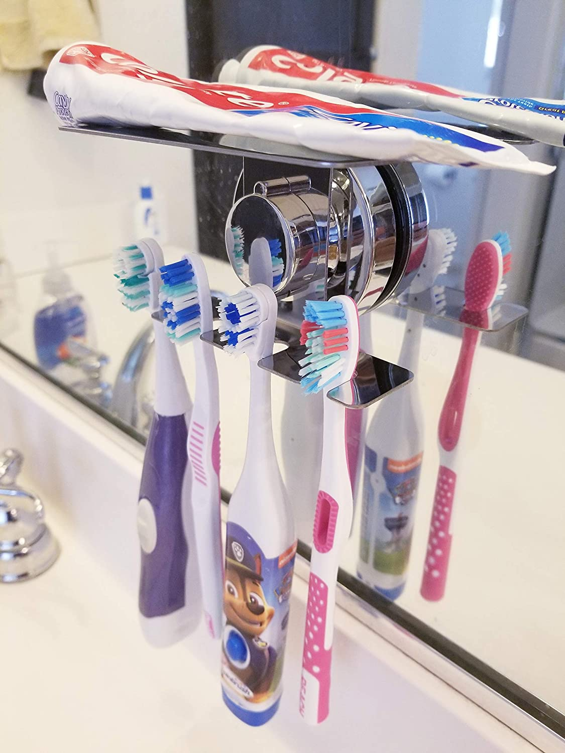 Gift Razor Jewelry Holder for Bathroom Shower Does NOT Fall Bathroom Organizer Mirror SIMPLELIFE Toothbrush Holder Suction Cup Wall Toothbrush Holder Wall Mounted Tile