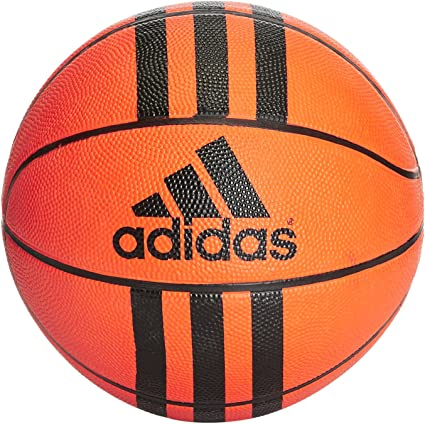 adidas 3 Stripes Mini Bola de Basketball, Unisex Adulto, Orange ...