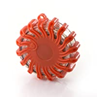 MR Goods® Warnblinkleuchte mit extra hellen LED Leuchten - Warnleuchte als Ergänzung zum Warndreieck bei Unfall Panne oder Gefahrenstellen magnetisch und wasserdicht