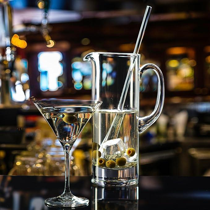 Household Essentials Krosno Handmade Bond Martini Pitcher And Stirrer 30 Oz Clear Carafes Pitchers