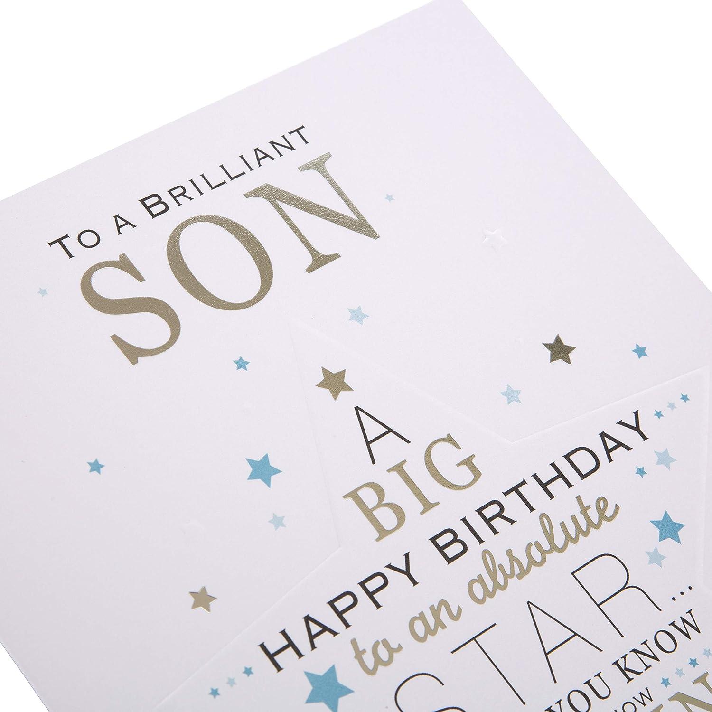 Hallmark Son Birthday Card Star Medium