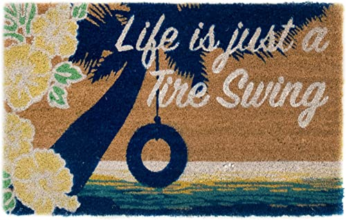 Liora Manne Cabana Casual Tire Swing Outdoor Rug, 18 X30 , Natural
