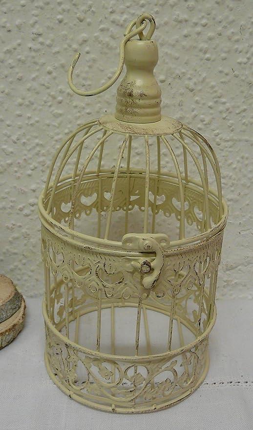 Decoración Vintage con jaulas de pájaros pajarera blanco antiguo ...