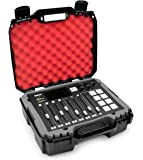 Casematix Studio Mixer Hard Case Fits Rode RODECaster Pro Podcast Production Studio and Accessories, Red Padded Foam Protection