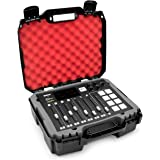 Casematix Studio Mixer Hard Case Fits Rode RODECaster Pro Podcast Production Studio Podcasting Microphone and Accessories, Re
