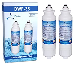 Dista - Refrigerator Water Filter Compatible with LG LT800P (2 Pack)