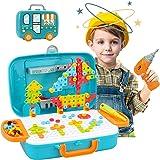 Drill Design Puzzle Creative Toys - 310 Pieces Electric Drill Screwdriver Building 2D 3D Models Blocks Assembly DIY STEM…