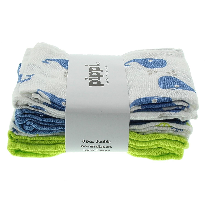 Pippi Diapers AO-Printed (8-Pack), Sciarpa da bimbo blu (parisian blue) Brands4kids A/S 3822