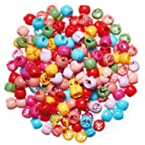 300 Pieces Mini Hair Claw Clips Mini Rainbow Hair Clips Tiny Plastic Jaw Clips for Women (Round)