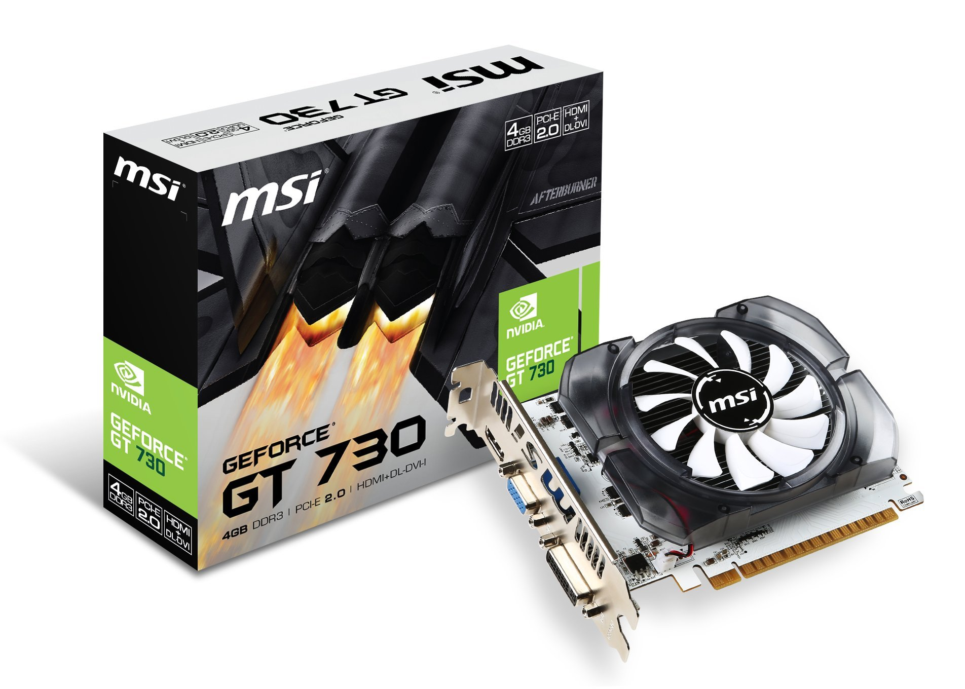 MSI GeForce GT 730 Fermi DDR3 4GB DirectX 12 (N730-4GD3V2)