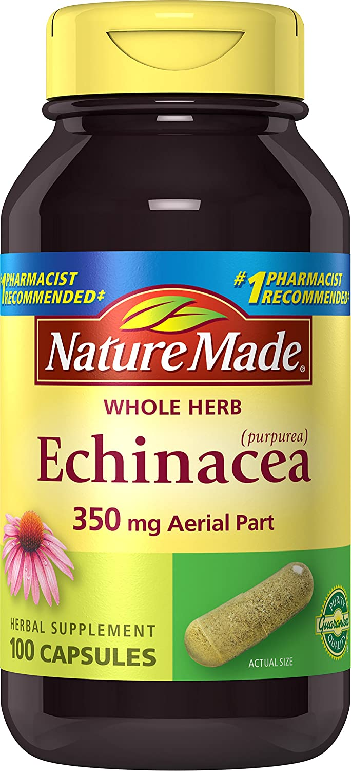 Nature Made Echinacea Herb Capsules, 350 mg, 100 Count