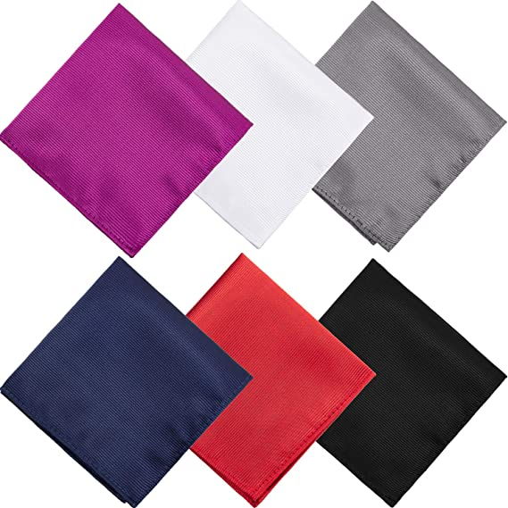 6 piezas de color sólido pañuelos para hombres esmoquin ...