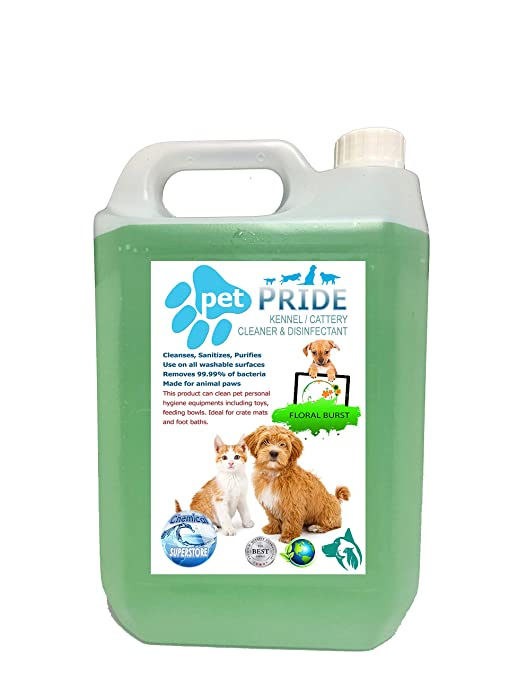4 x 5L mascota orgullo de la perrera, cattery desinfectante, limpiador, ambientador –