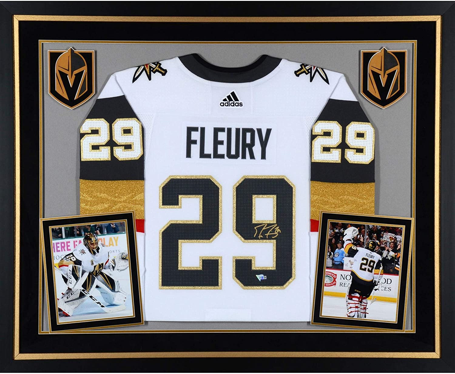 newest 85473 cfbc0 Marc-Andre Fleury Vegas Golden Knights Deluxe Framed ...