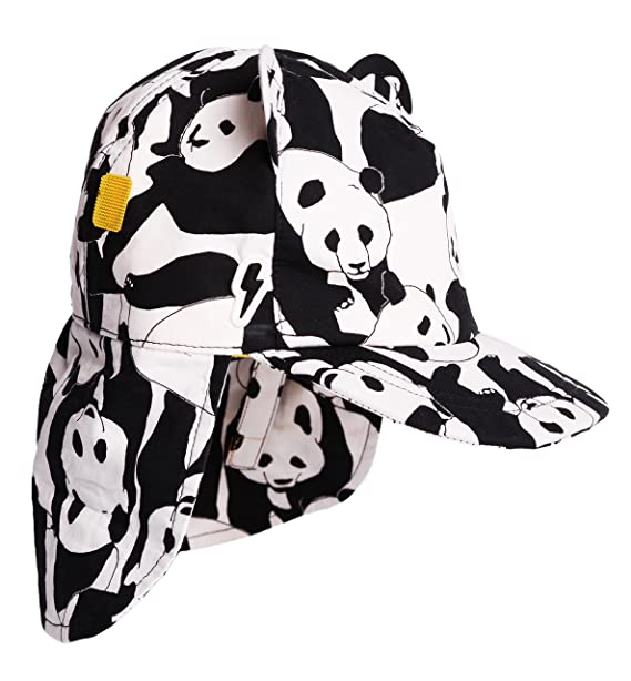 5ee47a1dca2dc Children s Baseball with Roll Up Neck Flap Sunhat  Cub in Panda Pop. Award  Winning Cotton Print Sunhat with UV Protection