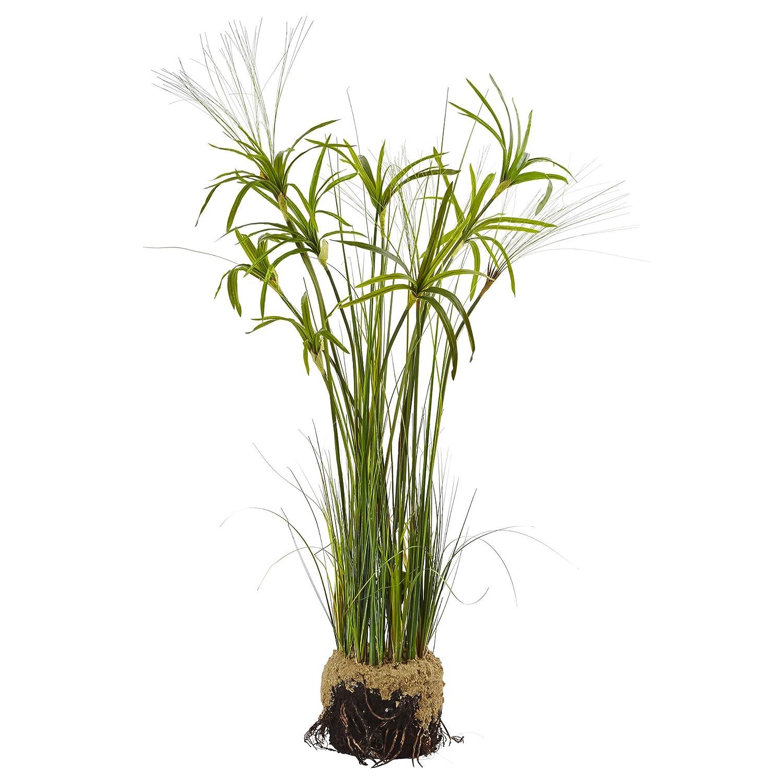 ほぼ自然4566 Papyrus Plant with Faux Soil Arrangement B01MD1URRV