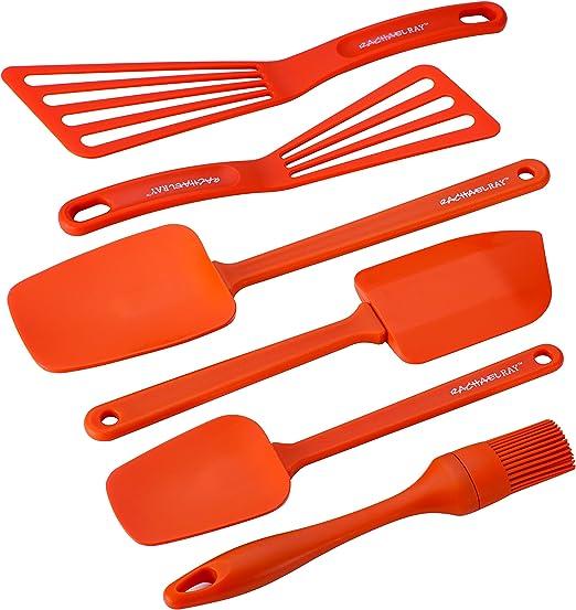 Rachel Ray Utensil Set New Orange 6-Piece Tool Set Dishwasher safe